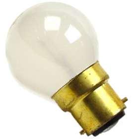 25W Frosted Globe Bulb BA22d Base