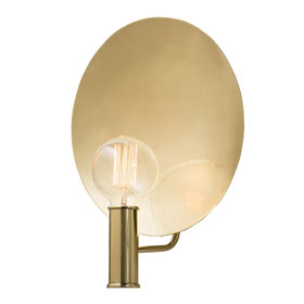Polished Brass Lorita Sconce