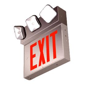 ECNY Three Head 50W LED Exit Emergency Light Combo Unit