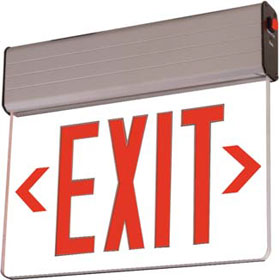 Rival Clear Acrylic LED Double Face 8 in. Recessed Red Letters Exit Sign