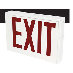 Rival Series White LED Universal Face 8 in. Red Letters Exit Sign