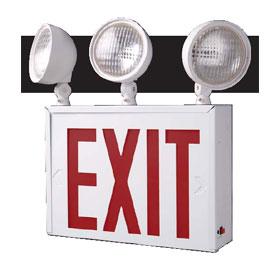 SESDT3-3 3-Head Emergency Light Exit Combo Unit