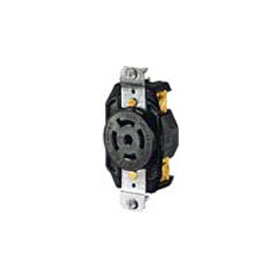 Orange NEMA L21-20 Isolated Ground Single Receptacle
