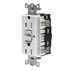 Office White Tamper Resistant 15A Commercial GFCI Duplex Receptacle