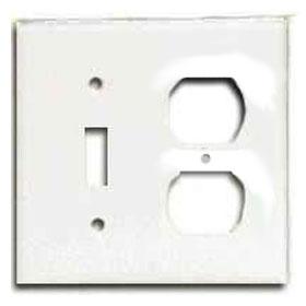 White 2-Gang Toggle Duplex Receptacle Wallplate