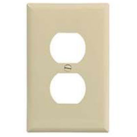 White 1-Gang Duplex Receptacle Wallplate