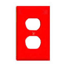 Red 1-Gang Duplex Receptacle Wallplate