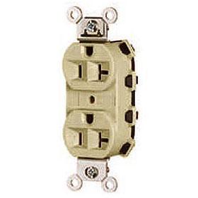 Quick-Tech QT5362 Ivory NEMA 5-20 Heavy Duty Spec Grade Duplex Receptacle