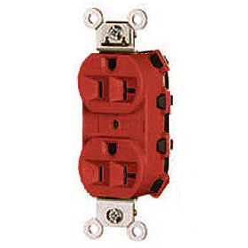 Quick-Tech QT5362 Red NEMA 5-20 Heavy Duty Spec Grade Duplex Receptacle
