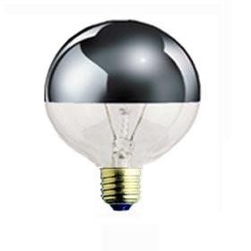 100G25HM 100W G25 Half Chrome Lamp