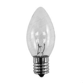 7C9C Clear 7W C9 E17 Bulb