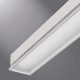 R6 T5 Fluorescent Linear Prismatic Lens Recessed Luminaire 120-277V