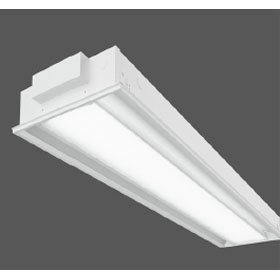 Z3 1 x 4 2-Lamp T5HO Fluorescent Recessed Luminaire Linear Prismatic Lens