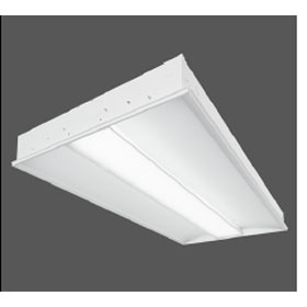 Z3 2 x 4 2-Lamp T8 Fluorescent Recessed Luminaire, Linear Prismatic Lens Shielding