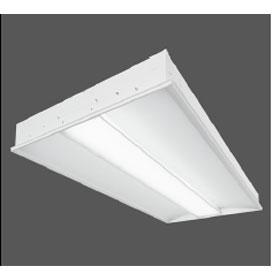 Corelite Z3 2 x 2 2-Lamp T5 Fluorescent Recessed Luminaire, Linear Prismatic Lens Shielding