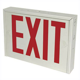 LED Red Letters Emergency Exit Sign NYC