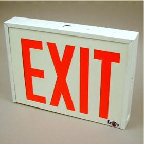 LSE 8 in. Red Letters LED Exit Sign