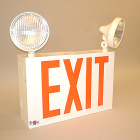 LC8 Series Dual Head LED 8 in. Letters Exit Light Combo Unit
