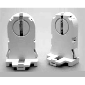 Tall Profile T8/T12 Rotary Lock Flexible Shoulder Shunted Lampholder