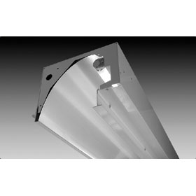 Focus 3 21 ft. 2-Lamp T8 Fluorescent Open Wall Wash Fixture 120V
