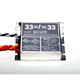 Work Horse 33 Fluorescent In-Fixture Electronic Ballast 120V, Compact case