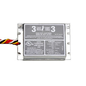Work Horse 3 Fluorescent In-Fixture Electronic Ballast 277V. Bottom Studs
