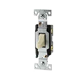 White 15A Grounded Toggle Switch