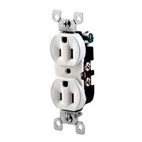 White 15A Duplex Receptacle
