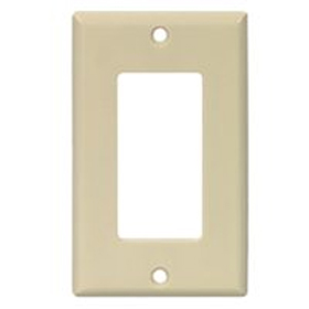 White Single Gang Decor Wallplate