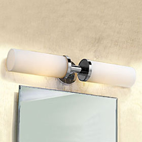 Kubic Polished Chrome Double Vanity Light