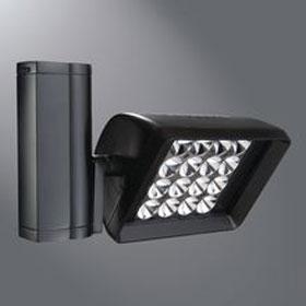 Stasis Large Black 38W 3000K LED Flood Track Head