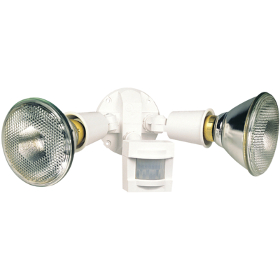 White Timed Motion Sensor Security Flood Light with Photocell