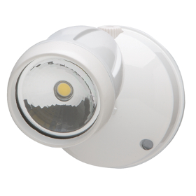 White 10.4W Dusk-to-Dawn Single Head LED Security Light