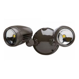 Bronze 26W Dusk-to-Dawn Twin Head LED Security Light