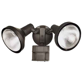 Bronze Selectable Timer Motion Sensor Dual Flood Light