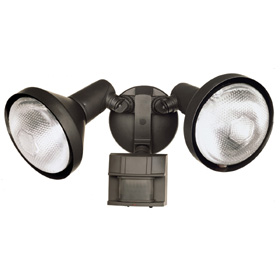 Bronze Motion Activated Dual-Security Light