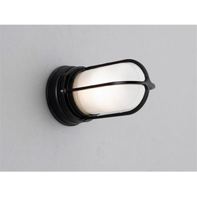 Vapor Jar Black Wall Mount Light Fixture without Shield