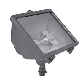Q Series Bronze 500W Compact Quartz Flood Light 120V