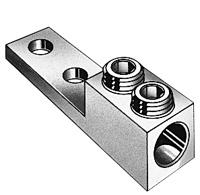 Dual Rated CU/AL Panelboard Single Lug Double Screw Connector 800-300 MCM, 9/16 Hole