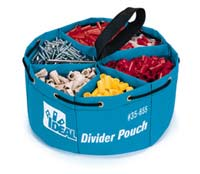 35-655 Blue Poly Divider Pouch