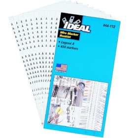 44-109 Wire Marker Booklet Legend: 6 1-15; 4 16-90; 2 A-Z +-/ 0