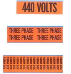 44-296 Wire Marker Cards 120/208V