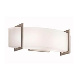 Crescent View Brushed Nickel 2-Light Bath Fixture