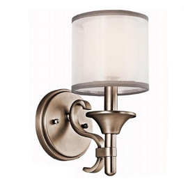 Lacey Antique Pewter 1-Light Wall Sconce