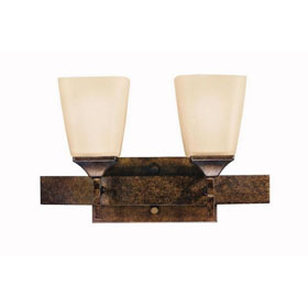 Souldern Marbled Bronze 2-Light Bath Fixture
