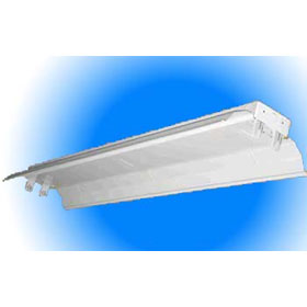 4 ft. 32W T8 Fluorescent Industrial White Reflector Fixture 120V