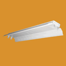 S Series Premium 8 ft. Tandem 32W T8 Fluorescent Industrial Specular Reflector Fixture
