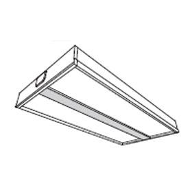 Voice 2 x 2 2-Lamp 28W T5 Fluorescent Recessed Fixture