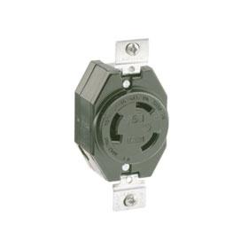 Industrial Grade 30A 480V Flush Mount Locking Receptacle