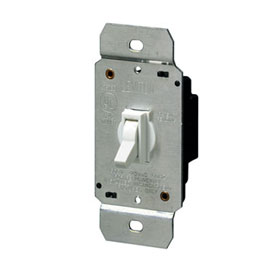 Ivory 600W Incandescent 3-Way Toggle Dimmer